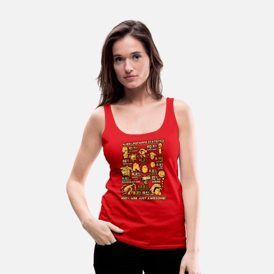 Statistics Tank Tops - Alien Statistics - Women's Premium Tank Top red