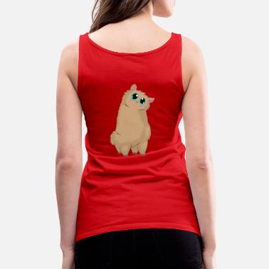 Wool Cute Chubby Alpaca Cat - Women's Premium Tank Top
