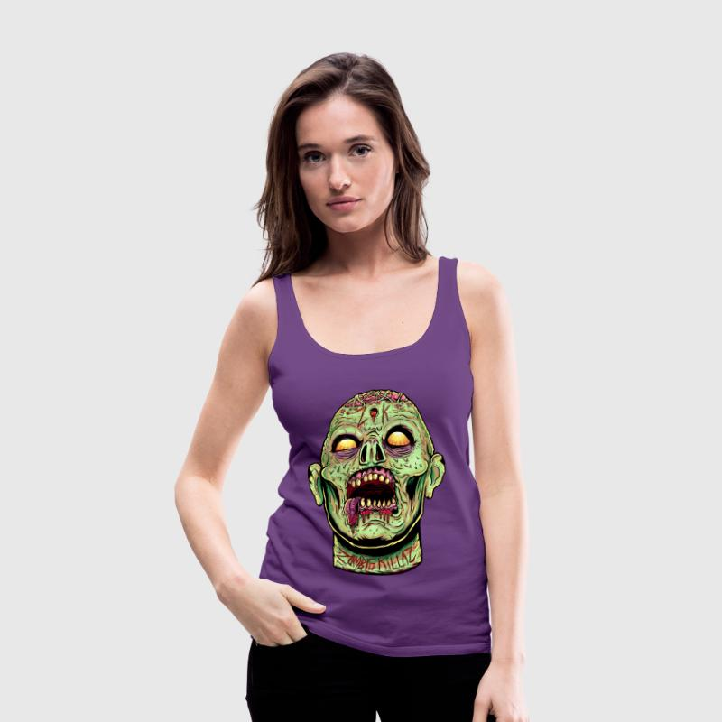 Zombie Killaz Head - Women's Premium Tank Top
