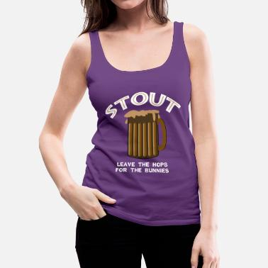 Stout Stout White - Women's Premium Tank Top