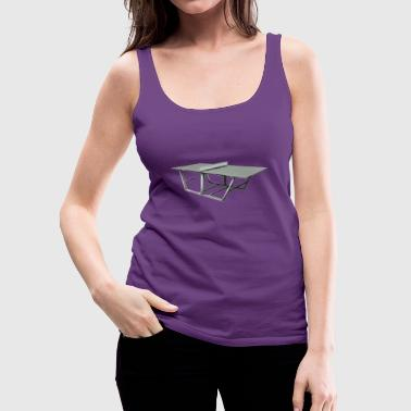 Minimalistic Table Tennis Table - Women's Premium Tank Top