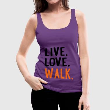 walk - Women's Premium Tank Top