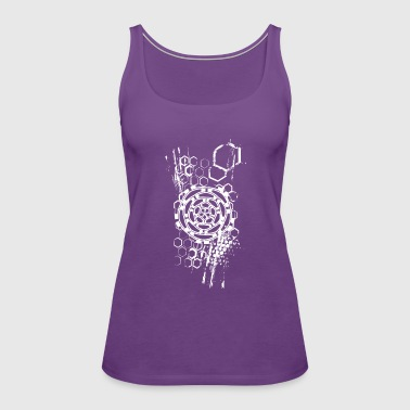 honeycomb flower - Women's Premium Tank Top
