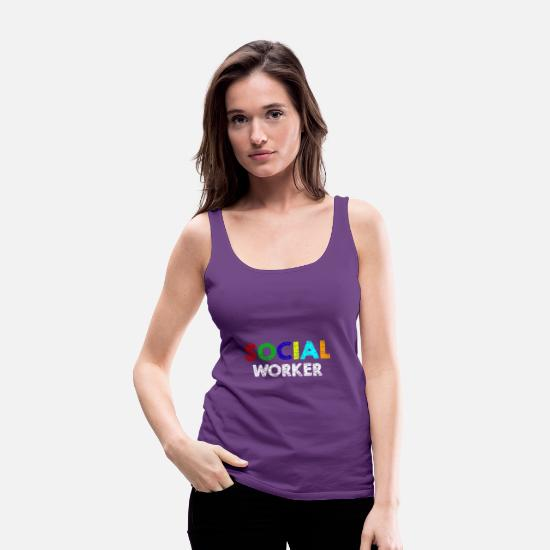 Social Network Tank Tops - Social worker - Women's Premium Tank Top purple