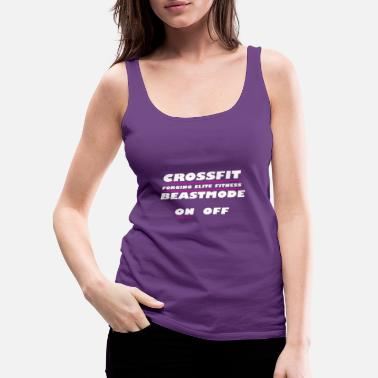Happiness Crossfit. Forging elite fitness on off - Women's Premium Tank Top