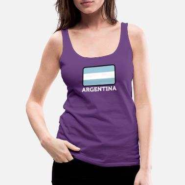 Mendoza The National Flag Of Argentina - Women's Premium Tank Top