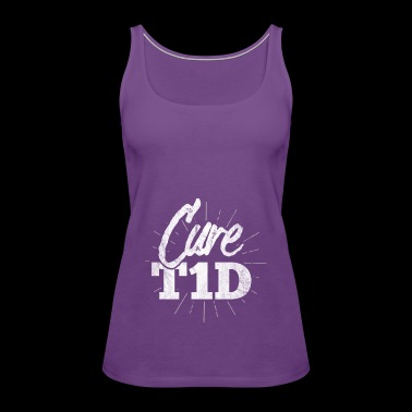 Shirt for diabetes awareness day - cure T1D - Women's Premium Tank Top