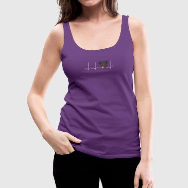 Heartbeat American Stafford Pitbull - Women's Premium Tank Top