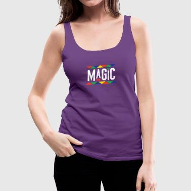 Magic - Tribal Design (White Letters) - Women's Premium Tank Top