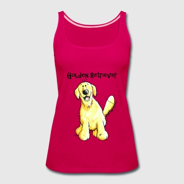 Happy Golden Retriever - Dog - Dogs - Women's Premium Tank Top