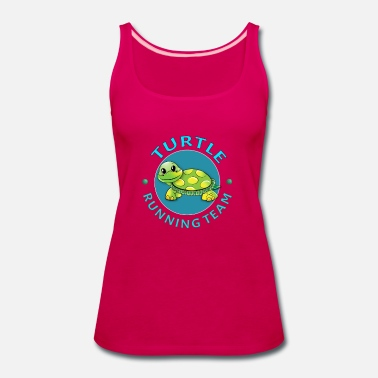 Turtle Turtle Running Team I Funny Slow Runner Gift Idea - Women's Premium Tank Top