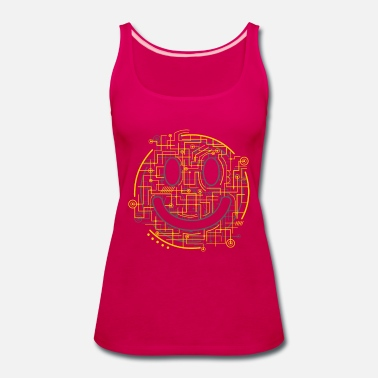 Positively Electric Smiley Face - Women's Premium Tank Top