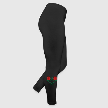 rose flower heart 2 2c - Leggings