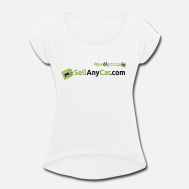 Mo Vlogs SellAnyCar.com original Logo - Women's Roll Cuff T-Shirt