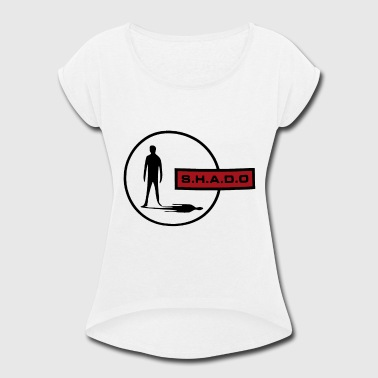 70s Tv Shado UFO TV Themed Retro Sci Fi Cool 70s Vintage - Women's Roll Cuff T-Shirt