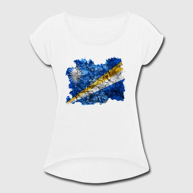 Marshall Marshall Islands Vintage Flag - Women's Roll Cuff T-Shirt