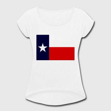 Flag Of Texas TEXAS FLAG - Women's Roll Cuff T-Shirt