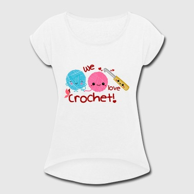 Crochet - Women's Roll Cuff T-Shirt