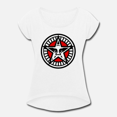Obey Star Face - Women's Rolled Sleeve T-Shirt