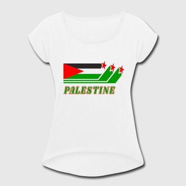 Palestine - Women's Roll Cuff T-Shirt