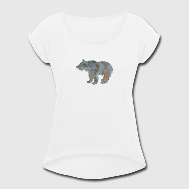 Baby Bear Cub - Women's Roll Cuff T-Shirt