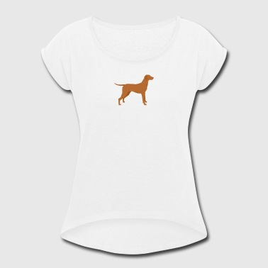 Vizsla - Women's Roll Cuff T-Shirt