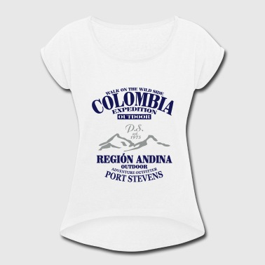 Bogota Colombia - Women's Roll Cuff T-Shirt