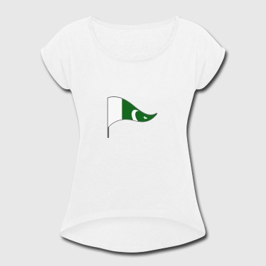 Kids Pakistan Pakistan Islamabad Asia Flag Banner Flags Ensigns - Women's Roll Cuff T-Shirt