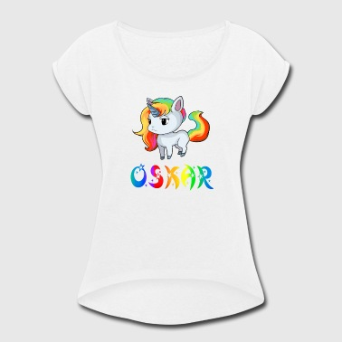 Oskar Unicorn - Women's Roll Cuff T-Shirt