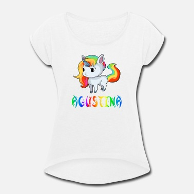 Agustina Agustina Unicorn - Women's Roll Cuff T-Shirt