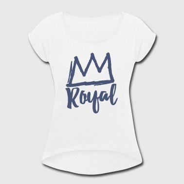 Royal Crown - Women's Roll Cuff T-Shirt