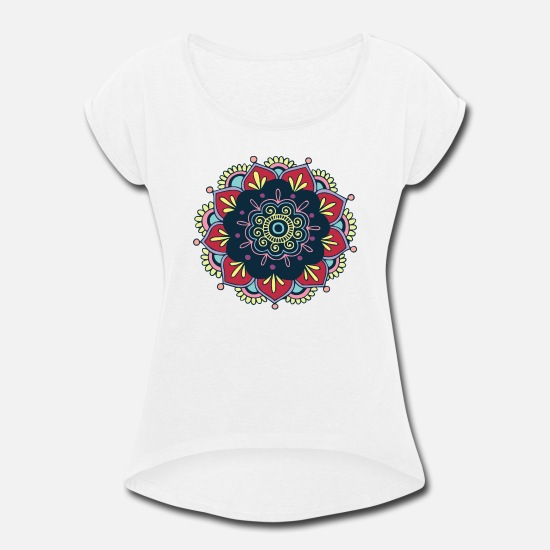 Love T-Shirts - colorful - Women's Rolled Sleeve T-Shirt white