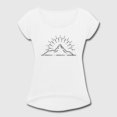 Hill Billy sun mountain hill - Women's Roll Cuff T-Shirt