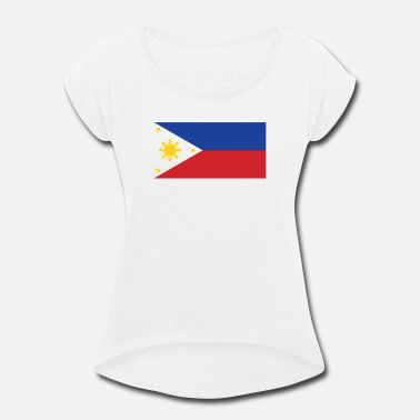 Filipino Flag Philippines Flag of the Philippines Cool Filipino Flag - Women's Roll Cuff T-Shirt