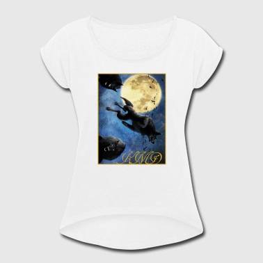 KMD Wolves - Women's Roll Cuff T-Shirt