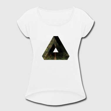 Penrose Triangle Penrose Triangle Design - Women's Roll Cuff T-Shirt