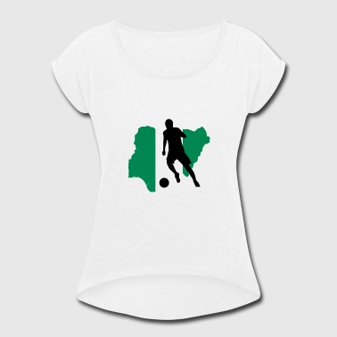 Land Nigeria - Women's Roll Cuff T-Shirt