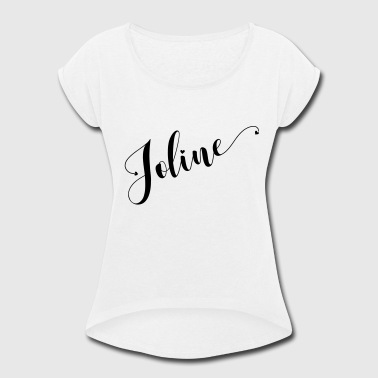 (joline) - Women's Roll Cuff T-Shirt