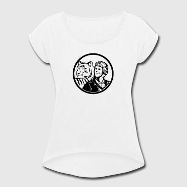 Airman Pilot World War 2 Pilot Airman - Women's Roll Cuff T-Shirt