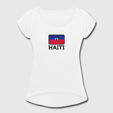 Antilles National Flag Of Haiti - Women's Roll Cuff T-Shirt