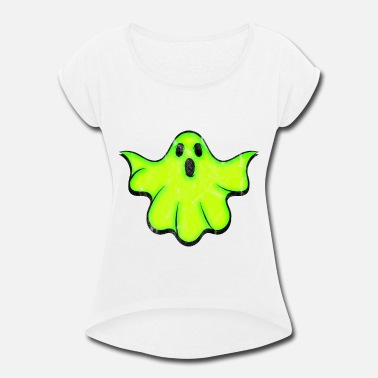Spiritualist GHOST Light - Women's Rolled Sleeve T-Shirt