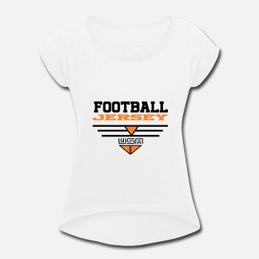 Jersey Number Football jersey - Women's Rolled Sleeve T-Shirt