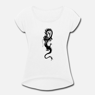 Chinese Chinese Dragons - Women's Rolled Sleeve T-Shirt