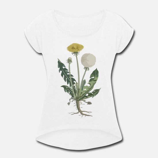 Love T-Shirts - Botanical - Women's Rolled Sleeve T-Shirt white
