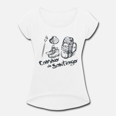 Santiago Camino de Santiago Design shirt for him and her - Women's Rolled Sleeve T-Shirt