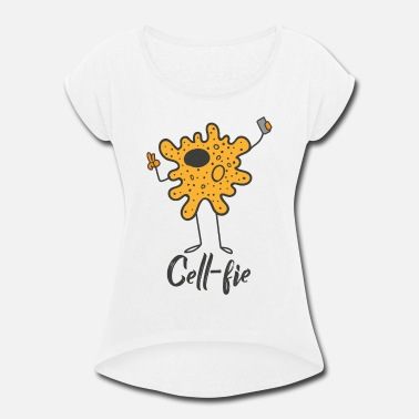 Cell Cell-Fie the cell with camera - Women's Rolled Sleeve T-Shirt