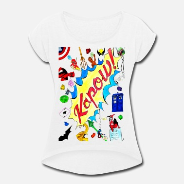Dc Comics KAPOW - Women's Roll Cuff T-Shirt