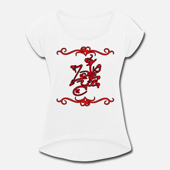 Love T-Shirts - Beautiful Love you lettering Love You gift - Women's Rolled Sleeve T-Shirt white
