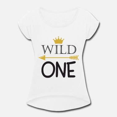 Xxx Babies Wild One Birthday Bodysuit Wild One Party 1st Birt - Women's Roll Cuff T-Shirt