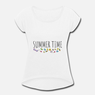 Outing Summer Time - Women's Rolled Sleeve T-Shirt